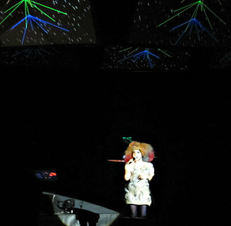 """Biophilia Tour - Björk performing """"Solstice"""" live at the Cirque en Chantier on February 24, 2013."""