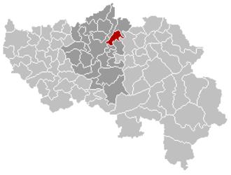 Blegny - Image: Blégny Liège Belgium Map