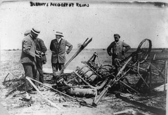Blériot XII - Remains of Type XII after crash at Reims
