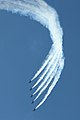 Blue Angels perform the Line Abreast Loop maneuver at the Flight Over the Falls Air Show (6002771709).jpg