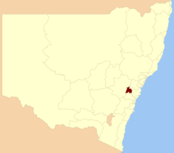 Blue mountains NSW State Electoral District.png