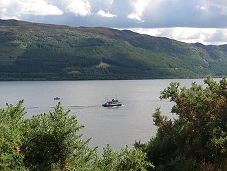 Boat tour - Boat tour on Loch Ness in Scotland.