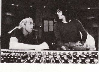 Bob Welch (musician) - Bob Welch (left) and recording engineer Jimmy Robinson at the Record Plant in Sausalito, California