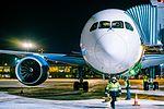 Boeing 787 Dreamliner at Riga Airport (32119236310).jpg