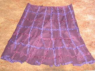 Boho-chic - Short floaty skirt, 2005