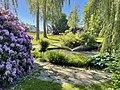 Borgheim, Nøtterøy, Norway. Minneparken anlagt 1950, WW2 Memorial statue by Carl E. Paulsen, Rhododendron, birch trees, fountain, summer etc. 2021-06-16 IMG 4286.jpg