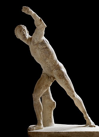 Borghese Gladiator - Image: Borghese Gladiator, Louvre Museum, Paris 2 October 2014