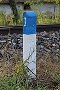 Borne hectométrique 3 Ligne Mâcon Ambérieu Route Prales Perrex 2.jpg