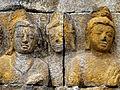 Borobudur - Lalitavistara - 002 E, Bodhisattva's Announcement that he will be Reborn on Earth (detail 2) (11248152094).jpg