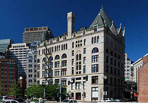 Milford pink granite - Flour and Grain Exchange Building, Boston (1892)