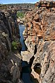Bourke's Luck Potholes, řeka Blyde - Jihoafrická republika - panoramio.jpg