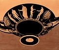 Bowl decorated with young men using strigils. Gouache painti Wellcome V0020001.jpg