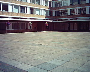 Lonsdale College, Lancaster -  The old college quadrangle, given to Bowland College in 2004