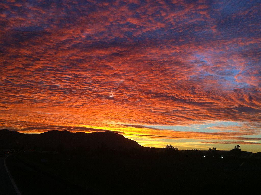 File Box Springs Mountain Sunrise Riverside County Ca