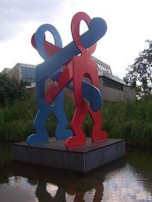 Keith Haring Boxer (1987) Berlino nei pressi di Potsdamer Platz.