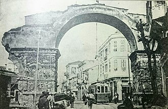 Arch of Galerius and Rotunda - The arch in 1913