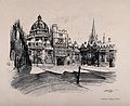 Brasenose College, Oxford; quadrangle. Process print after V Wellcome V0014074.jpg