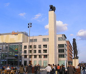 Eurovea - M. R. Štefánik Square in Eurovea in Bratislava.