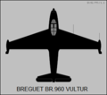 Breguet BR.960 Vultur top view silhouette.png
