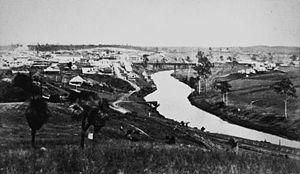 Bremer River (Queensland) - Bremer River at Ipswich in 1872