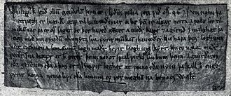 Philip Simonsson - Royal letter from Philip. This is the earliest preserved Norwegian royal letter.