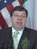 Brian Cowen at White House on Saint Patrick's Day 2009.jpg