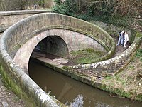 Bridge 77 on Macclesfield Canal (Lambert's Lane) - geograph.org.uk - 1298598.jpg
