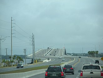 U.S. Route 98 in Florida - The Hathaway Bridge, which carries US 98 from Panama City Beach to Panama City