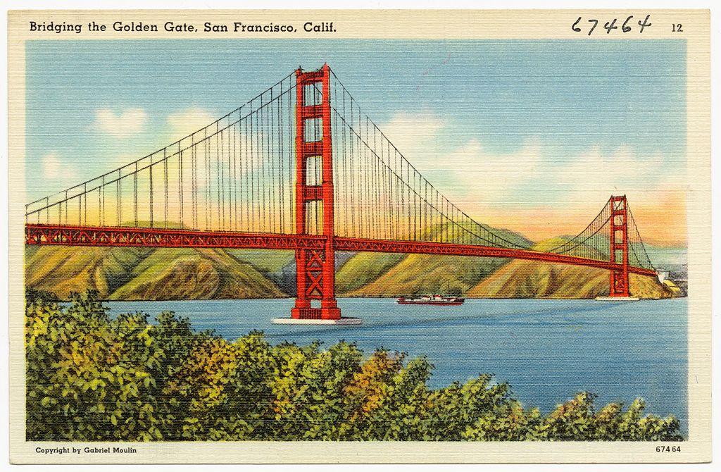 Le Golden gate le plus célèbre pont du monde est à San Francisco.