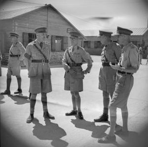 Harold Barrowclough - Barrowclough, centre, with other officers of the 2nd New Zealand Division prior to investiture with Greek awards for service during the Battle of Greece