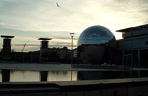 Cabot, Bristol - Millennium Square (Bristol) and the At-Bristol planetarium