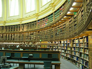 British Museum Reading Room - Inside the Reading Room, before its conversion to an exhibition space