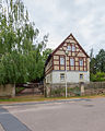Brockwitz Niederseite 28 Wohnhaus, Scheune, Torpfeiler und Einfriedung eines Bauernhofs I.jpg