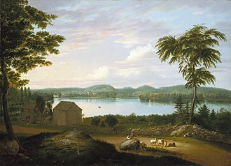 Alvan Fisher - Alvan Fisher (American, 1792-1863). View of Springfield on the Connecticut River, 1819. Oil on canvas. Brooklyn Museum