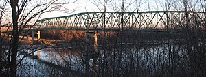 National Register of Historic Places listings in Atchison County, Missouri - Image: Brownville bridge