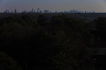 Midtown and Downtown Atlanta as seen from Vinings, Cobb CountyCumberland Area skylineThe Perimeter Center skyline