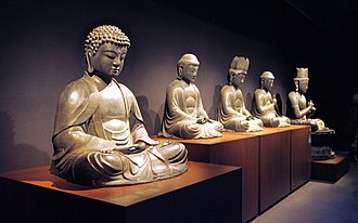 National Museum of Ethnology (Netherlands) - Image: Buddha gallery at Museum Volkenkunde