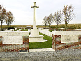 Toegang met Cross of Sacrifice