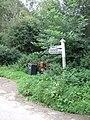 Bumpstone Cross signpost - geograph.org.uk - 1461829.jpg