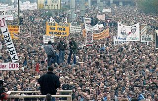 November 1989 demonstration against East German government
