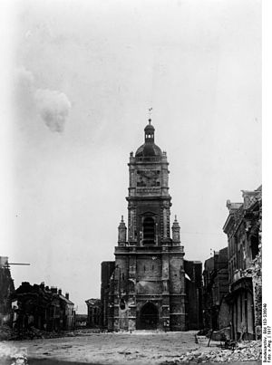 A church in France being fired at during the F...