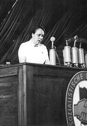 Hertta Kuusinen - Hertta Kuusinen in East Berlin on the 3rd congress of the Socialist Unity Party of Germany (1950)