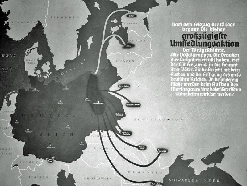 Bundesarchiv R 49 Bild-0705, Polen, Herkunft der Umsiedler, Karte