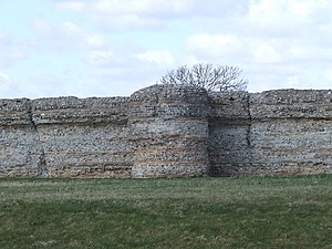 History of Norfolk - Burgh Castle, the most impressive of the Roman ruins of Norfolk