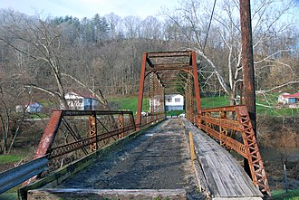 National Register of Historic Places listings in Braxton County, West Virginia - Image: Burnsville Bridge