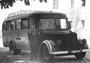 Hartheim Euthanasia Centre - Collection bus and driver