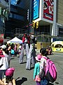 Buskers on stilts, Buskerfest, 2014 08 24 -e (15024246041).jpg