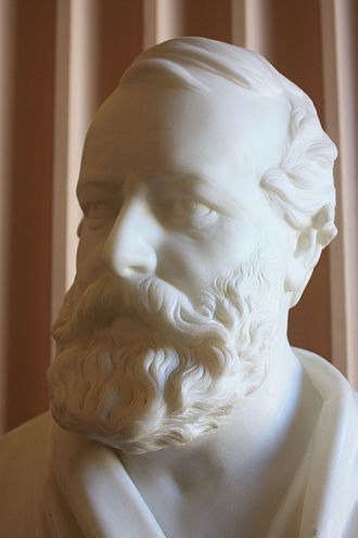 George Clark Stanton - Bust of Prof Thomas Laycock by George Clark Stanton, Old College, Edinburgh University