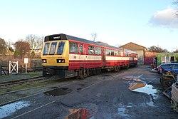 Butterley railway station, Derbyshire, England -train-19Jan2014 (6).jpg
