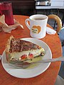 Bywater Bakery New Orleans December 2017 Quiche and Coffee.jpg
